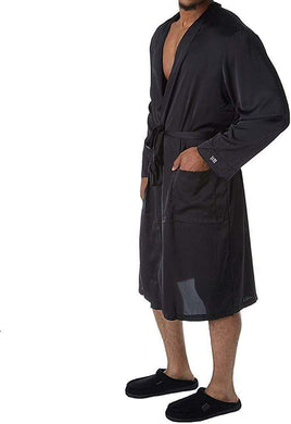 Hartman BLACK Essentials Classic Sueded Charmeuse Robe, US One Size