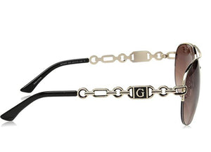 GUESS Factory Women's Chain Aviator Sunglasses