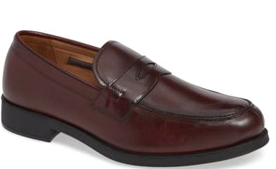 Vince Camuto CORDOVAN Nait Penny Loafer Shoes, US 13