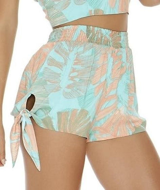 L*Space BUNGALOW PALM Vickie Palm Print Shorts, US Small