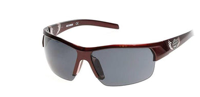 Harley-Davidson Women's Sunglasses, Glossy Burgundy Frame and Smoke Lens