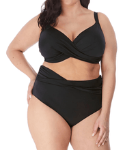 Load image into Gallery viewer, Elomi BLACK Plus Size Magnetic Twist Brief Swim Bottom, US 12