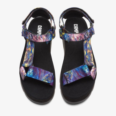 Camper PURPLE Oruga Up Platform Sport Sandal, 11US, 41EU