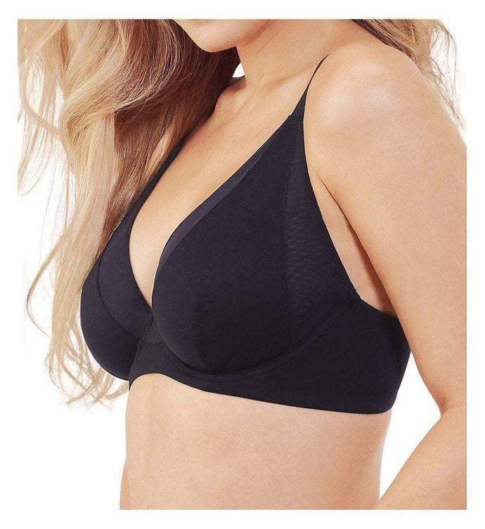 Vanity Fair MIDNIGHT BLACK Breathable Luxe Unlined Underwire Bra, US 34C - racks-op