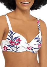 Load image into Gallery viewer, Tommy Bahama WHITE Oasis Wrap-Front Bikini Swim Top, US 34C, UK 34C
