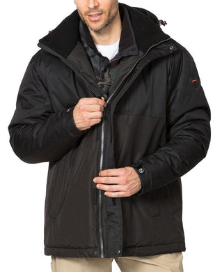 Hawke & Co. Men's BLACK Insulated Pro Performance Heavyweight Parka L