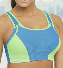 Load image into Gallery viewer, GLAMORISE Blue/Green Double-Layer Custom-Control Sport Bra, US 44G, UK 46F, NWOT