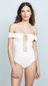 L*Space CREAM Anja One Piece Swimsuit, US 4