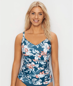 Azura PETROL South Pacific Underwire Tankini Swim Top, US 18