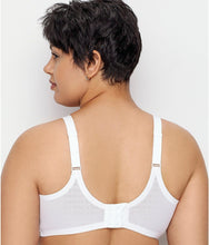 Load image into Gallery viewer, Glamorise WHITE Comfort Lift Full Figure Support Wire Free Bra, US 40H, UK 40FF