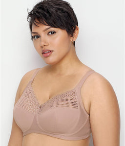 Glamorise TAUPE Comfort Lift Full Figure Support Wire Free Bra, US 42H, UK 42FF
