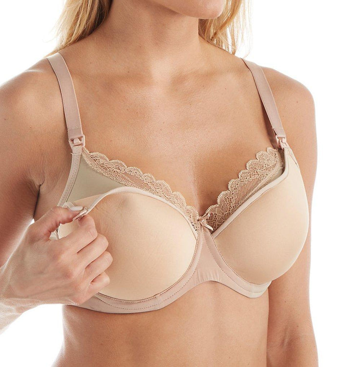 Panache LATTE Eleanor Molded Spacer Nursing Bra, UK 34FF - racks-op