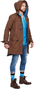 Musterbrand BROWN Zelda Parka Link Traveller Trench Coat, US X-Large