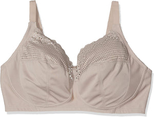 Glamorise TAUPE Comfort Lift Wireless Bra, US 38F, UK 38E