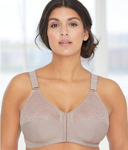 GLAMORISE Taupe Comfort Lift Wire-Free Posture Back Bra, Size 38H, NWOT - racks-op