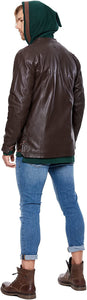 Musterbrand BROWN Zelda Breath of the Wild Men Leather Jacket, US X-Large