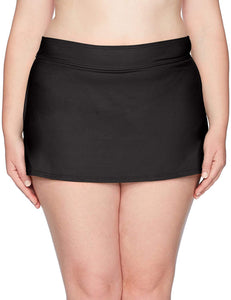 Anne Cole BLACK Signature Plus Size Skirted Bikini Swim Bottom, US 20W - racks-op