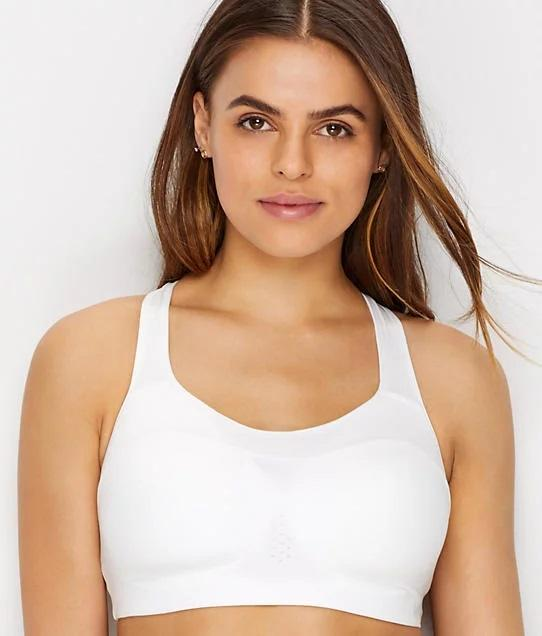 Nike WHITE/BLACK Alpha High Impact Sports Bra, US SDE - racks-op