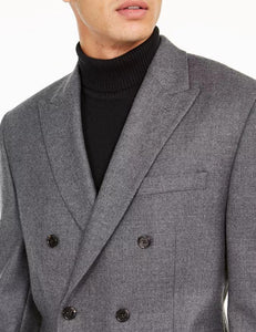 Ralph Lauren Men's Grey Double-Breasted Ultra Flex Sport Coat, 42R