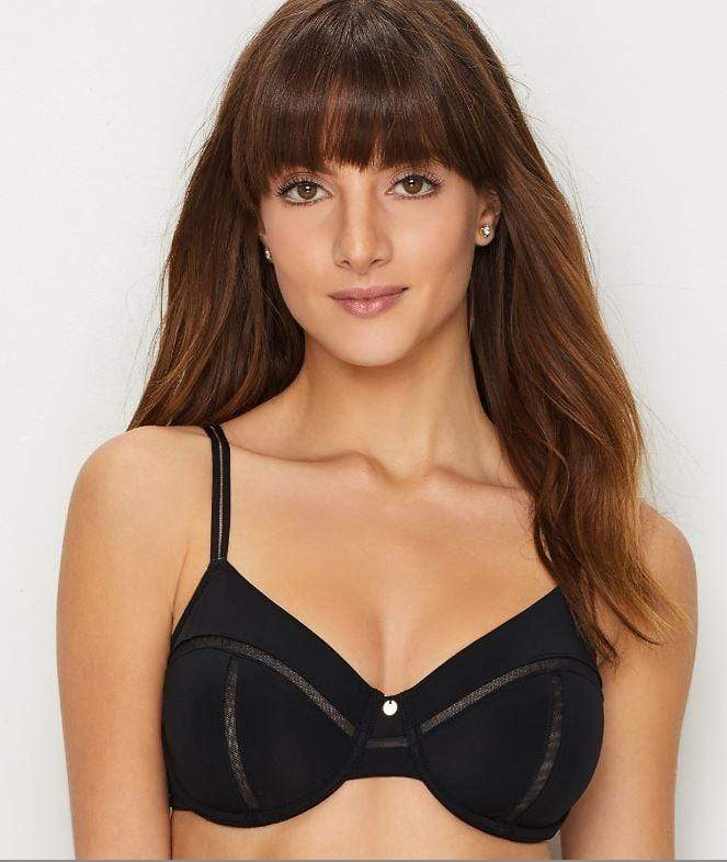 Natori BLACK Illusion Bra, Size US 32G - racks-op