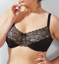 Load image into Gallery viewer, Bali BLACK/CHAMPAGNE Lace Desire Back Smoothing Bra, US 36C - racks-op