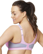 Load image into Gallery viewer, Glamorise PINK/GRAY Underwire High Impact Sports Bra, US 44DD, UK 44DD
