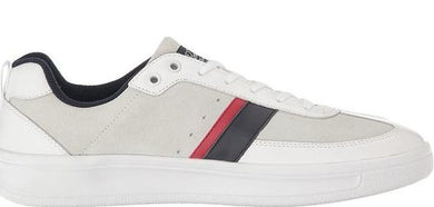 Original Penguin WHITE/NAVY/RED Braiden Suede Tennis Sneakers, US 11.5D