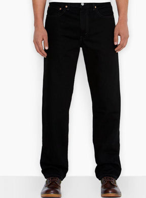 Levi's Men's Black 550 Relaxed Fit Jeans, 33x36