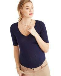 Hatch MIDNIGHT Maternity The Alma Top, Size 2