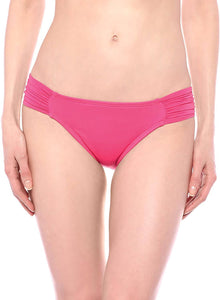 La Blanca PINK Island Goddess Side Shirred Hipster Bikini Swim Bottom, US 16