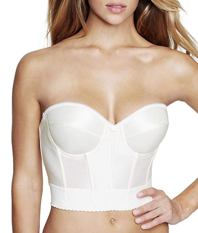 Dominique IVORY Noemi Strapless Longline Bra, US 38C - racks-op