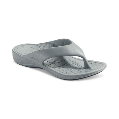 Aetrex GREY Maui Lynco Orthotic Flips, US 10, EU 41