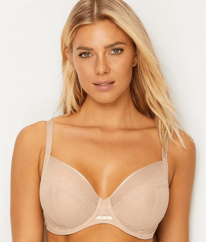 Chantelle ULTRA NUDE Parisian Allure Lace Plunge Bra, US 42DD - racks-op