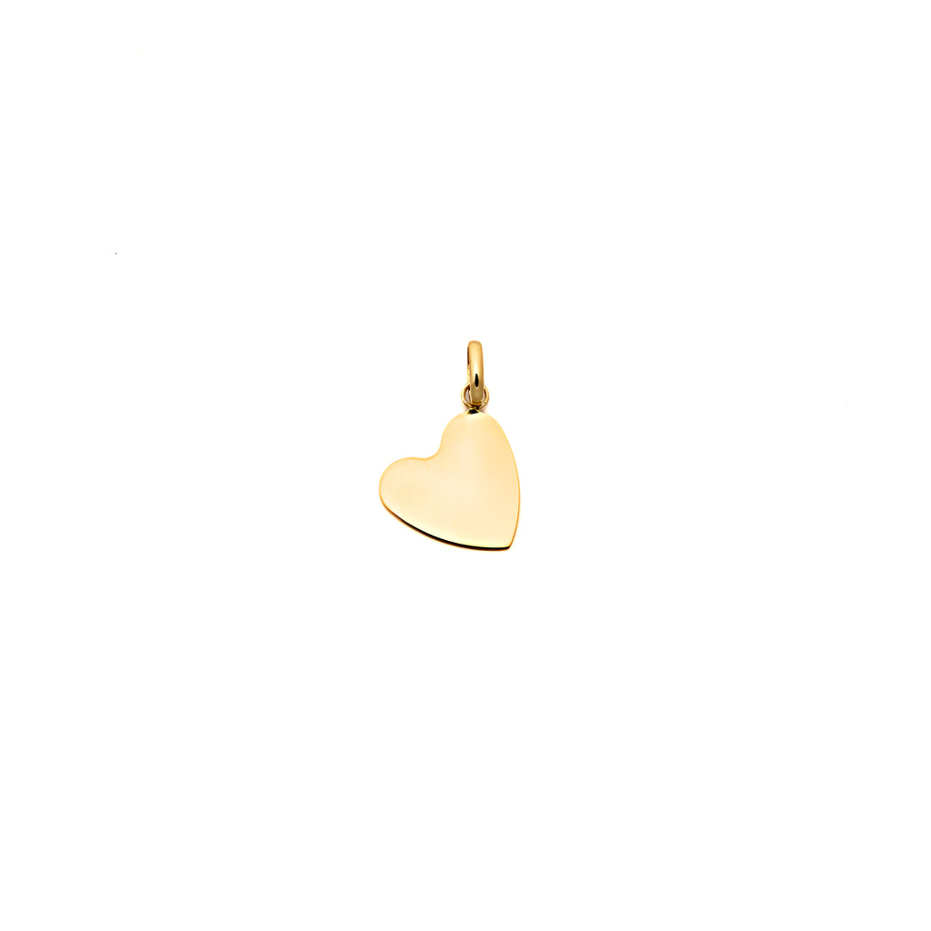 Yellow Gold Heart Tag Pendant