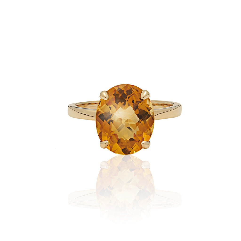 Citrine Oval Ring