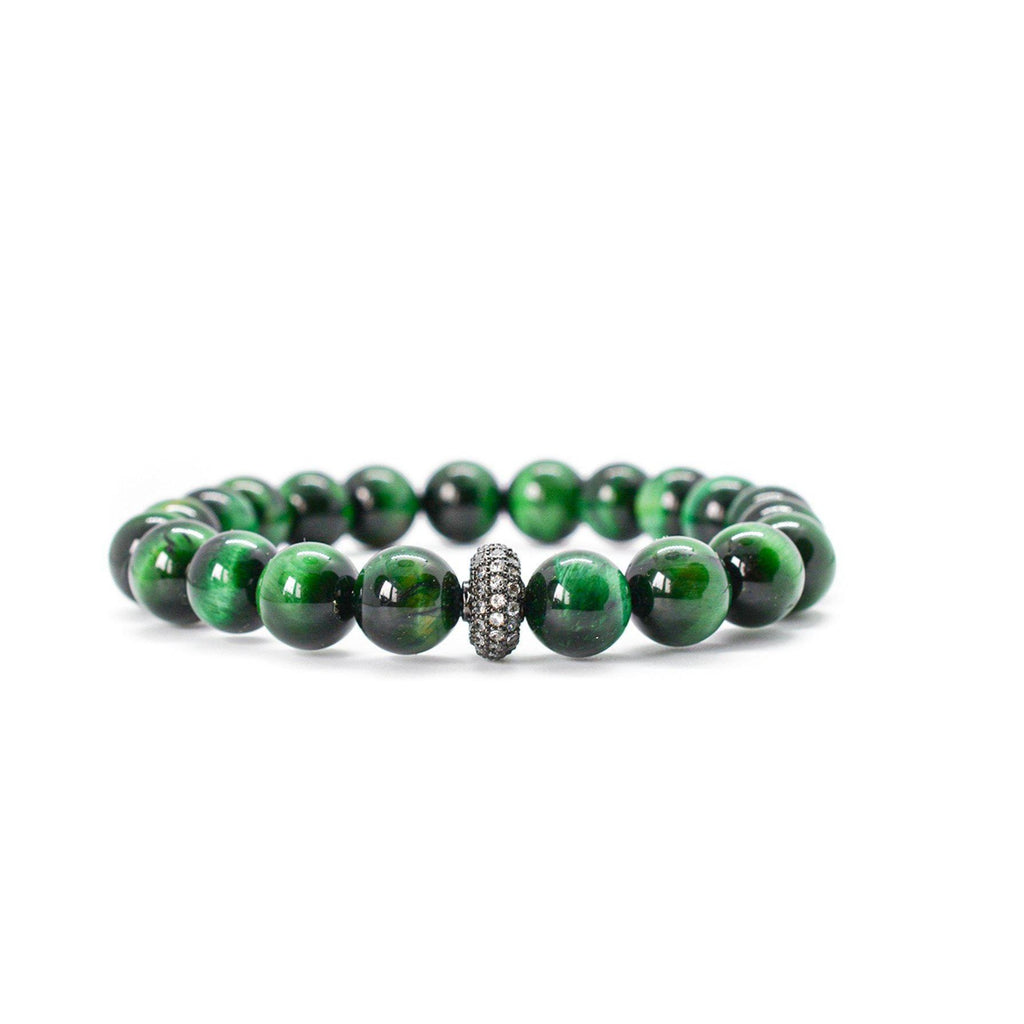 Green Tiger Eye Beaded Bracelet