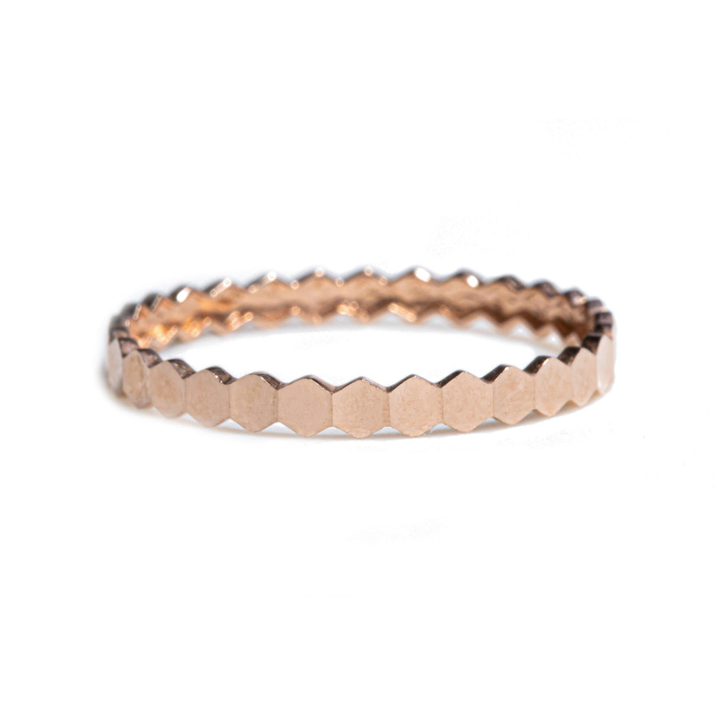 Stackable Pink Gold Ring
