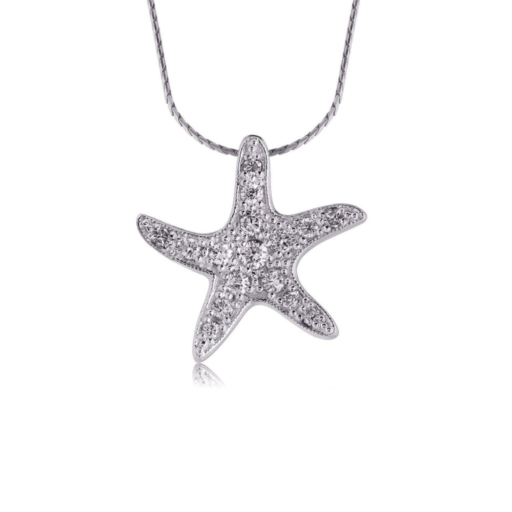 White Gold Diamond Star Pendant