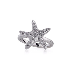 White Gold Sea Star Ring