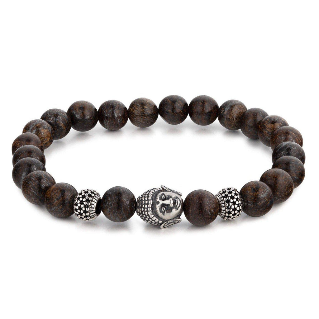Bronzite Beaded Bracelet With Buddha Charm