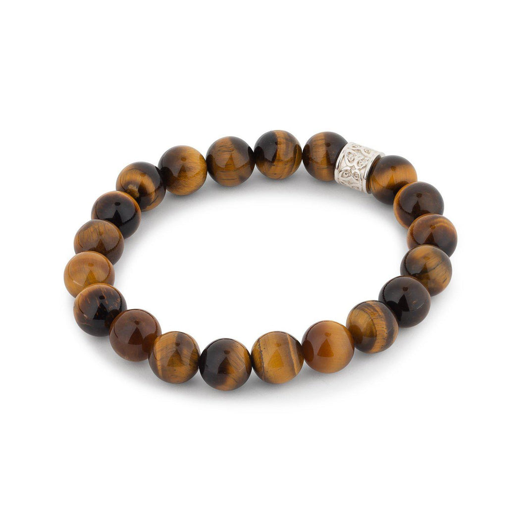 Multi Colored Tiger Eye Beaded Bracelet