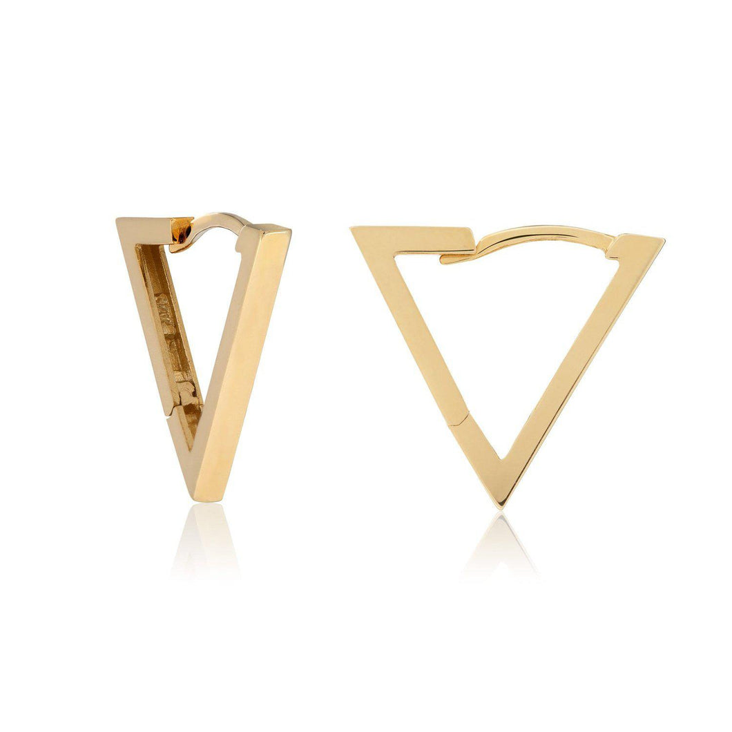 Golden Triangle Statement Hoop Earrings