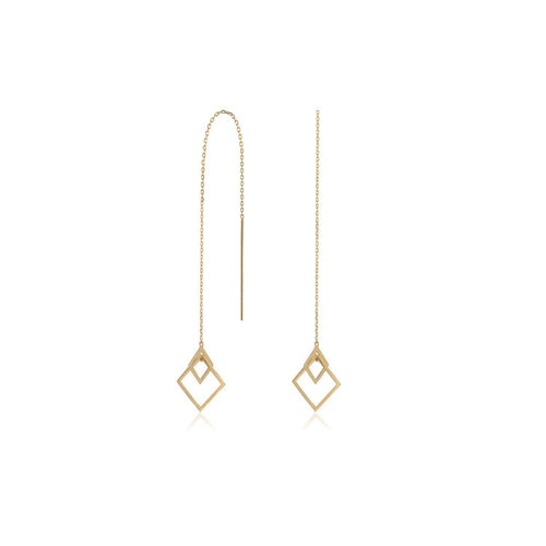 Geometric Chain Link Gold Earrings