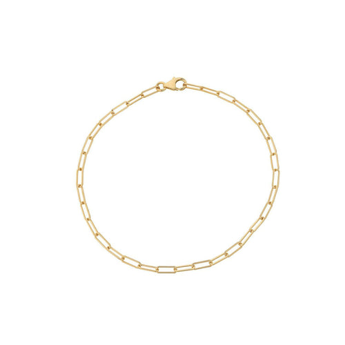 Delicate Yellow Gold Link Chain Bracelet