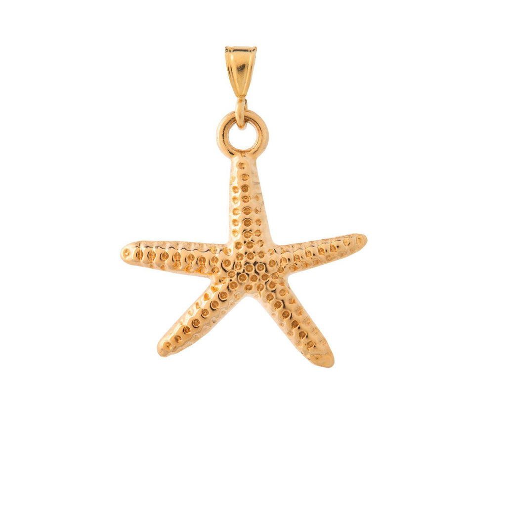 Yellow Gold Sea Star Pendant