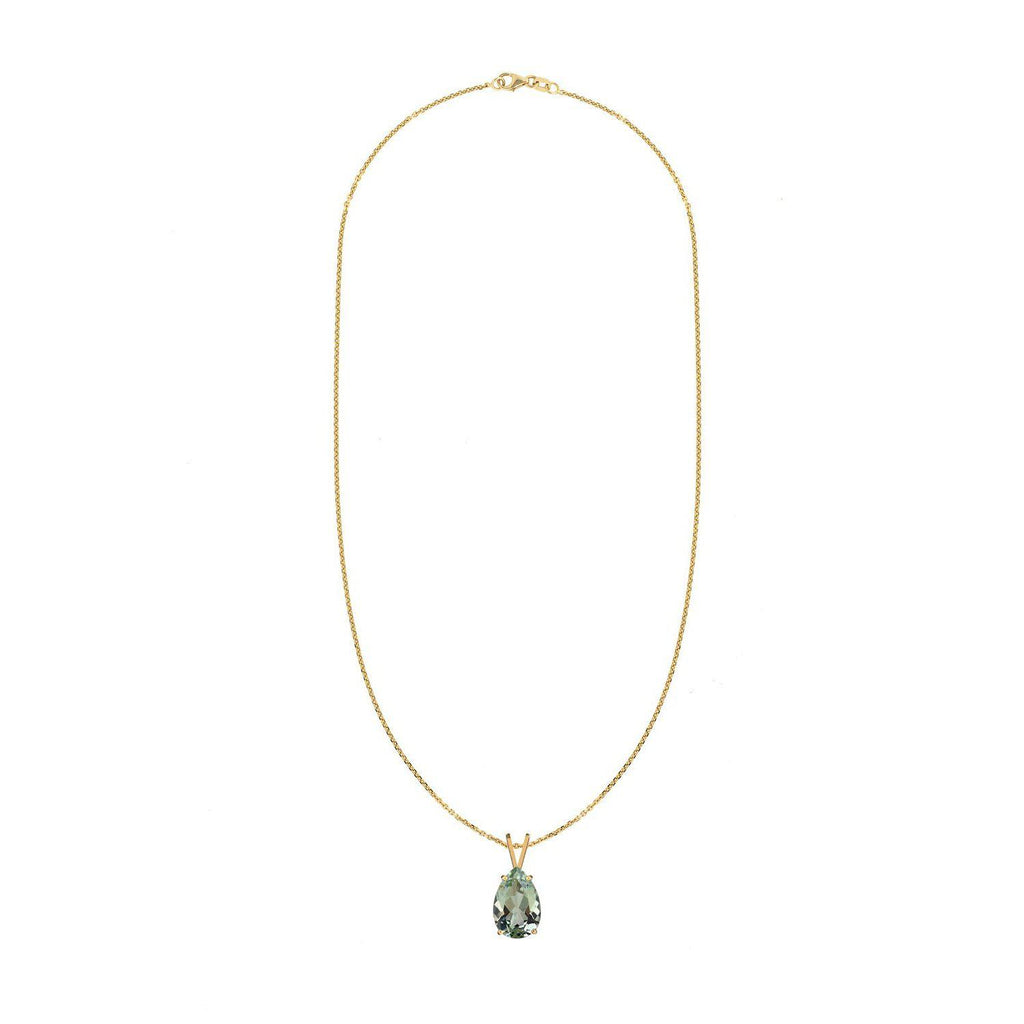 Green Amethyst Stone Necklace