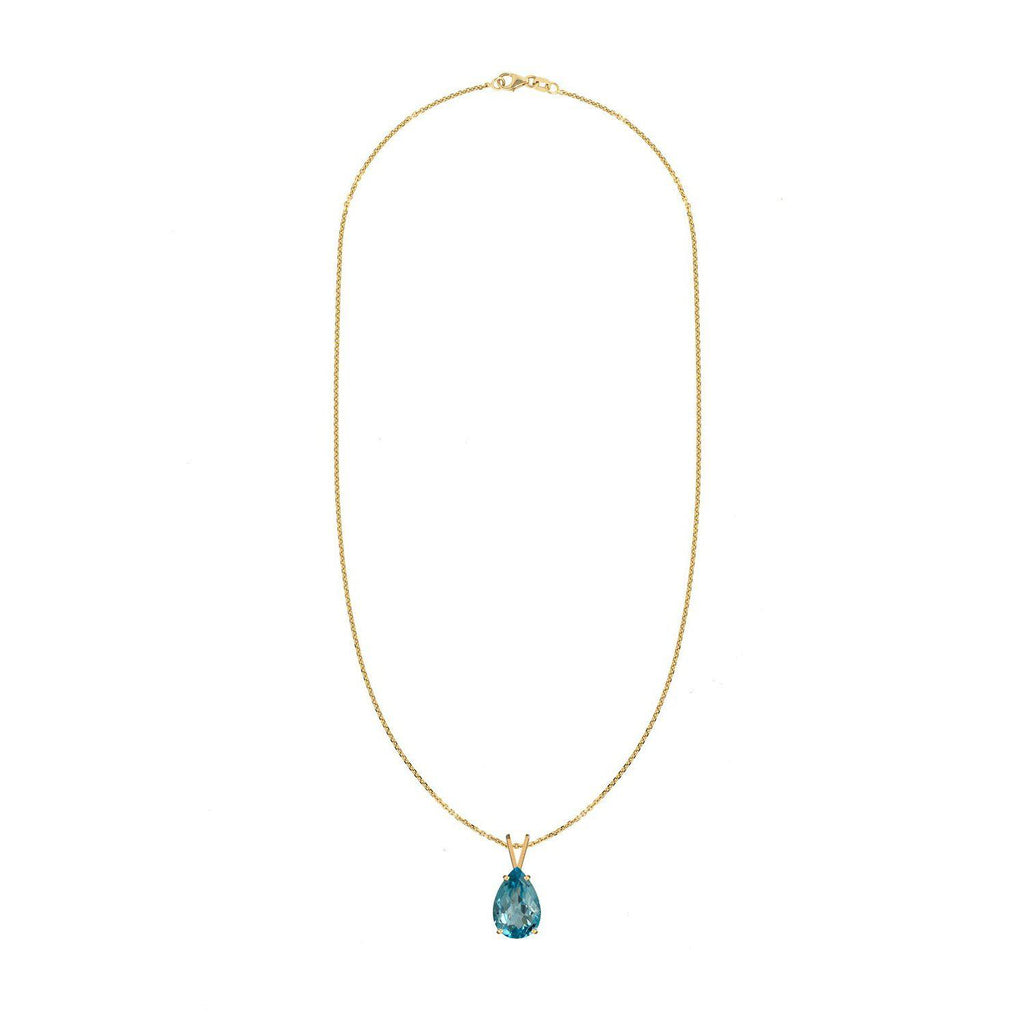 Swiss Blue Topaz Pendant Necklace