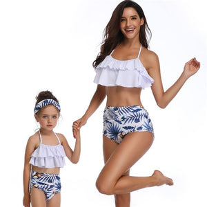 Mommy and Me 5  - Pink Pineapple Swimwear