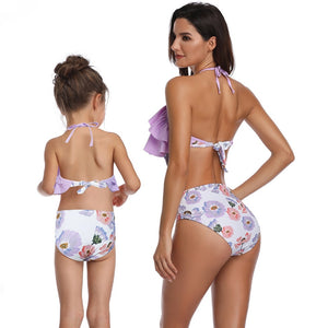 Mommy and Me 3  - Pink Pineapple Swimwear