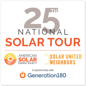 "25th Anniversary National Solar Tour Sticker (5"")"